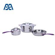 Factory direct sell colorful handle cookware set