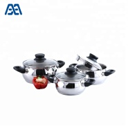 Kitchen Cooking Bakelite Handle Stainless Steel Casserole Set