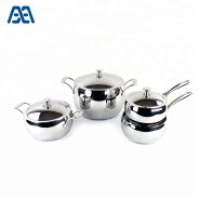 Hot sale apple shape induction cooking pot stainless steel cookware set