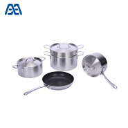 New arrival stainless steel cookware set with steamer