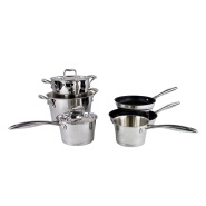 Various size kitchenware stainless steel amc cookware set