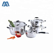 Superior materials kitchen cooking stainless steel cookware set