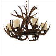 European lamp design antler chandelier deer pendant light