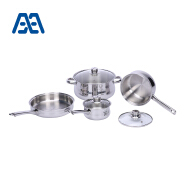 High end durable stainless steel cookware set