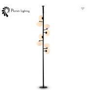 Fashion design style lighting black iron led floor lamp