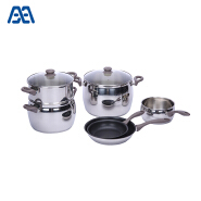 Home kitchen apple shape stainless steel cookware set