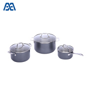 New black surface stainless steel cookware set