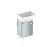 2018 modern bathroom furniture /bathroom vanity cabinet with(out) wash basin cabinet +iron feet /new