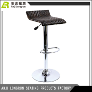 High stainless steel base swivel bar stool supplier