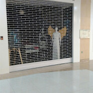 Security Roller Grille Doors for 24 Hours Advertising