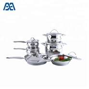 New arrival 6 pcs stainless steel pan cookware set