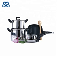 Multifunction square grill pan cooking pot cookware set