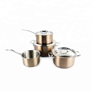 High quality colorful korea stainless steel casserole/ saucepan cookware set