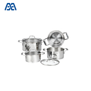 Add to CompareShare Professional Manufacturer Induction Bottom Stainless Steel Cookware Set