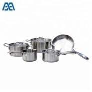 New products 5 pcs stainless steel stock pot/ frypan/ cookware set