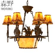 Vintage E14 lamp holder chandelier for villa &bar