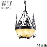 2016 new style living room modern metal indoor pendant lamp with glass cover