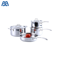 Multifunctional easy clean stainless steel cookware set