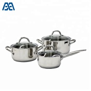 Hot selling stainless steel casserole/ stew pot/ cookware set