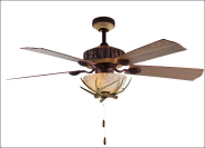 Vintage decorative home led weight ceiling fan light with remote