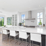 melamine and acrylic mix kitchen cabinet design