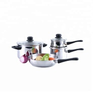 Wholesale easy to clean kitchen ss cookware set