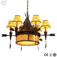 Metal Base Material Chocolate archaize color metal ball pendant lamp edison filament Light Source