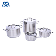 Various sizes cookware stainless steel stockpot set