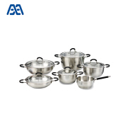 High end home use deep pan food cooking pot cookware set