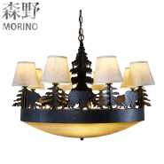 China Suppliers Single Head Black Iron Chandelier with American country style