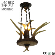 2016 Factory wholesale price wrought iron teapot pendant lamp with LED light