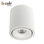 Die Cast Aluminum Cylindrical Indoor IP20 Surface Mounted 10W 903Lm COB LED Down Light Ceiling Light