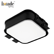 Sqrare White/Black 3000k 25W SMD lamp Dimmable Recessed Led ceiling Downlight