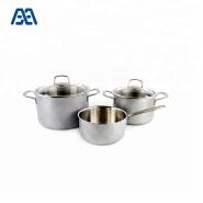 High quality colorful korea stainless steel cookware cooking pot set