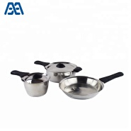 Environmental multifunction bakelite handle camping cooking pot amc cookware set