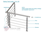 Hot Product Highest Quality Simple Style stainless steel railing YKB-SR013