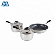 Hot sale stainless steel saucepot nonstick fry pan cookware set