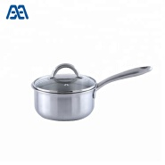 Professional size small stainless steel saucepan