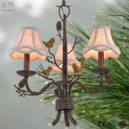 2017 Factory wholesale price of wrought iron pendant lamp with LED lights