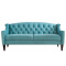 Retro Button Tufted Upholstered Fabric Sofa/ Chesterfield Couch Sofa/ American Hot-Sale Living Room