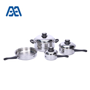 Wholesale heat resistant handle stainless steel cookware set