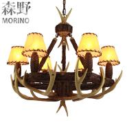 Deer antler led 6 light chandelier for villa & hotel decoration