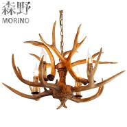 Vintage deer antler resin ceiling chandelier,indoor decorative pendant light