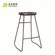Furniture vintage metal counter kitchen bar stool
