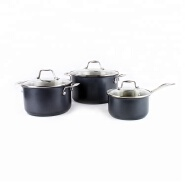 High end durable black stainless steel cookware cooking pot set