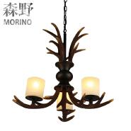 Elk Antler Chandelier 3 Light Candle-Style for living room and dining room