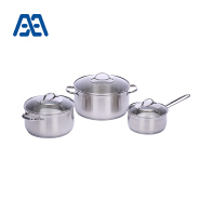Modern style cooking pot stainless steel cookware set