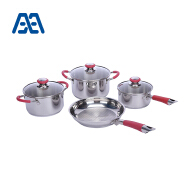 Professional grade 4(7) pcs stainless steel cookware set