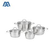 Custom design stainless steel restaurant soup pot outdoor cookware set