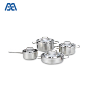 Eco-friendly stainless steel width wire handle restaurant soup pot/ skillet/ cookware set
